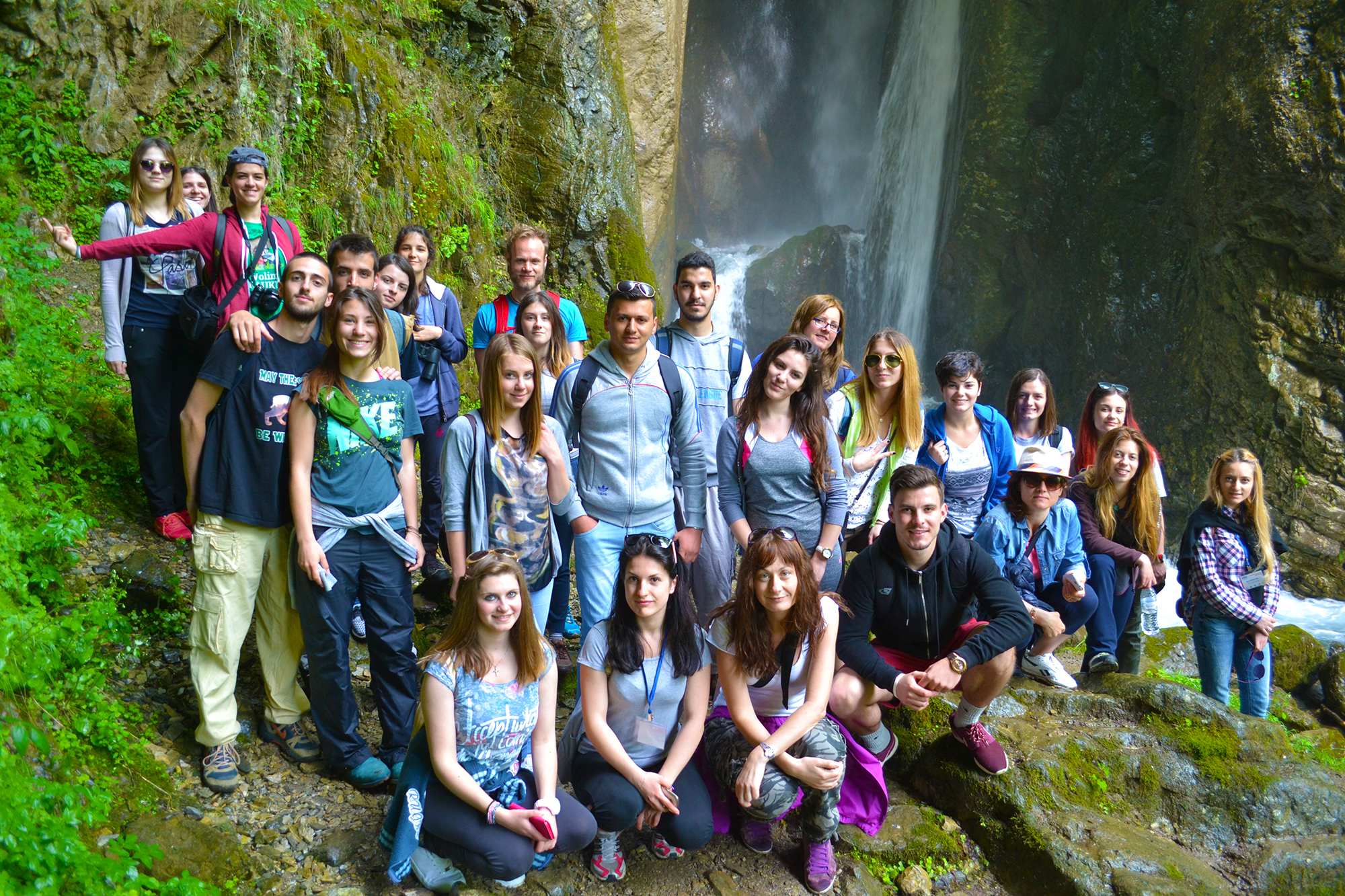 At Duf Water Falls in Mavrovo National Park