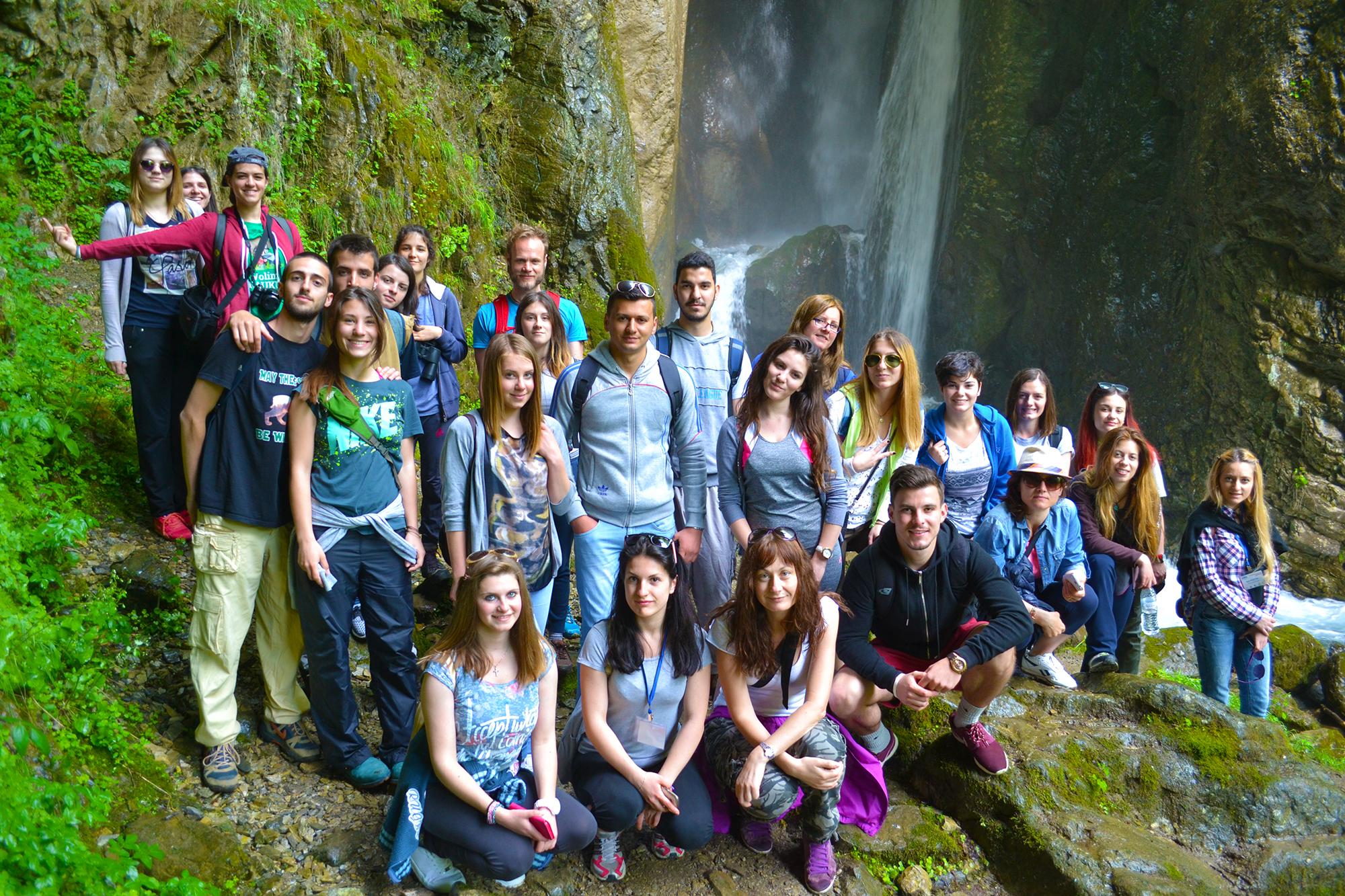 At Duf Water Falls in Mavrovo National Park