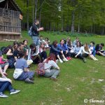 At the Deer Reporoduction Farm in Mavrovo National Park