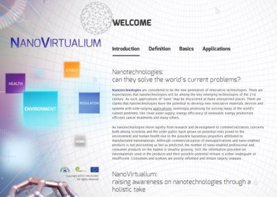 NanoVirtualium: raising awareness on Nanotechnologies