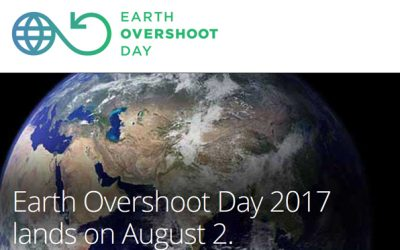 Earth Overshoot Day 2017 lands on August 2