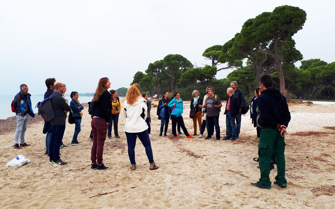 The ACT4LITTER associated partners' journey ends in the National Park of Schinias