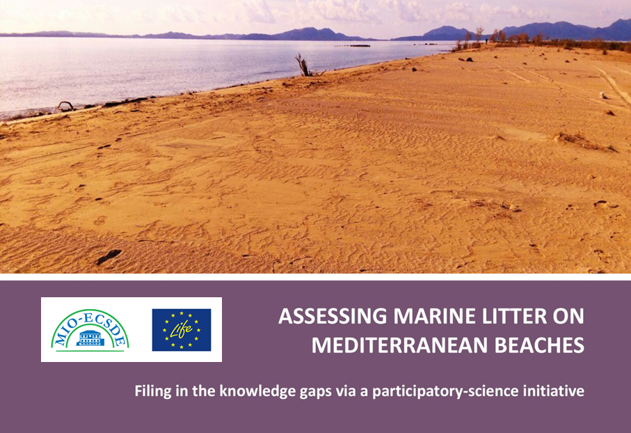 Assessing Marine Litter on Mediterranean Beaches. Filing in the knowledge gaps via a participatory-science initiative. MIO-ECSDE, 2019